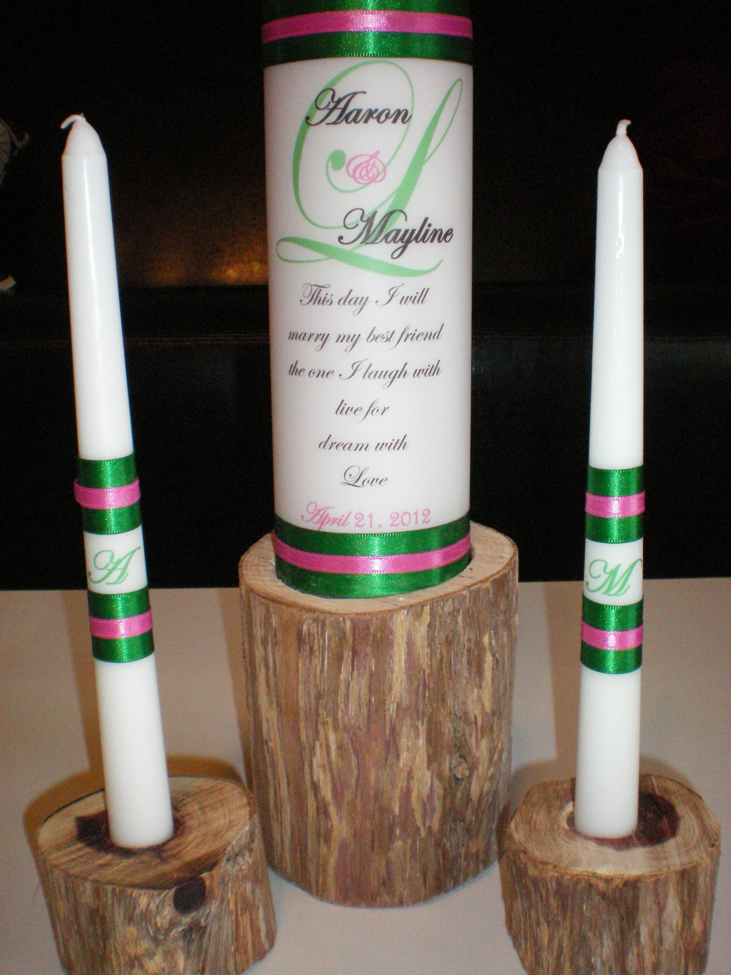 And our candle holders DIY Our unity