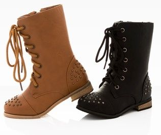 $29.99 for Coco Jumbo Girls' and Toddler Combat Boots | Young ...