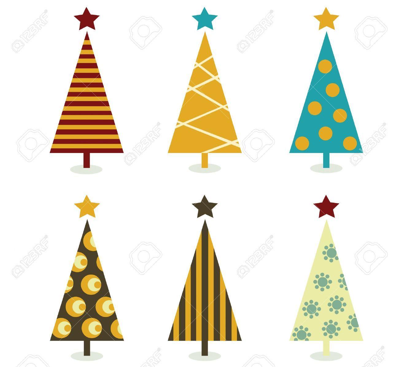 Retro Christmas Tree Elements Christmas Trees Design Elements Retro Christmas Tree Christmas Tree Images Christmas Tree Design