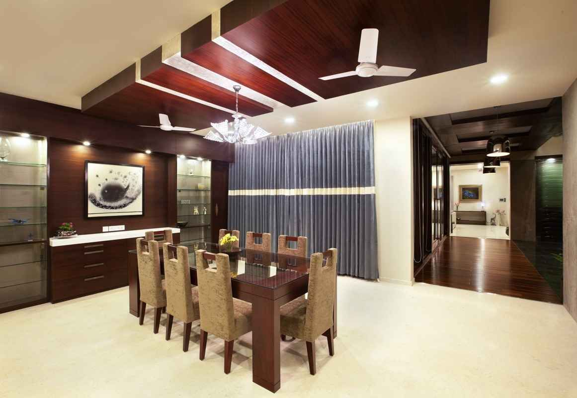 Ceiling design home dining area by Architect