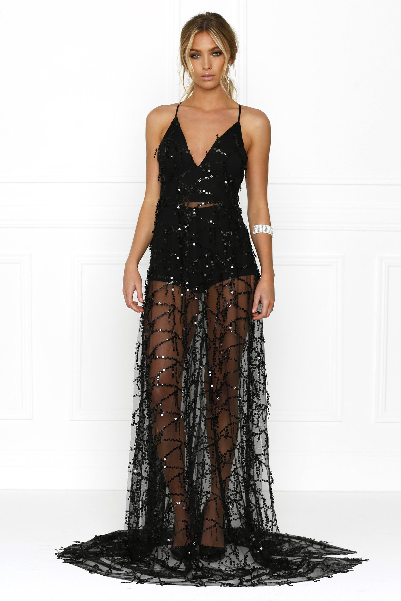 a53590d79f Pin by Aesthetic BLVCK on All Black   Dresses, Gown dress online ...