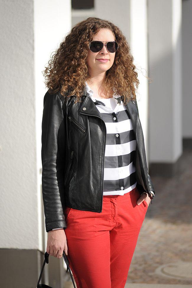 .: Streifen + Rot :. #DIY #blouse #DIYfashion