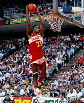 5 8x10 Wilkins Red Dunk Photo Dominique Wilkins Basketball