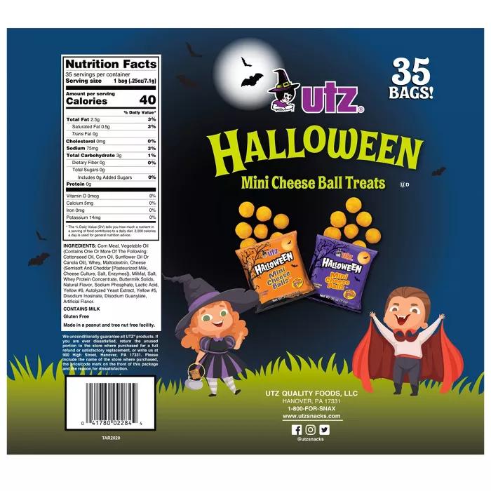 Utz Halloween Mini Cheese Ball Treats 35ct Target Cheese Ball Halloween Mini