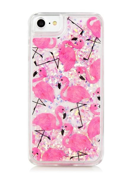 Details Make your love for the summer heat known with Flamingo print glitter case. Not only will it sparkle in the sun, this case provides will be sure to protected your phone from day to day bumps n' knocks! Due to the nature of the case air bubbles do form over time. If case cracks or leaks fluid, remove case and discontinue use immediately. Contact with liquids may damage smartphones. If fluid makes contact with skin or clothing, wash immediately with soap and water.  Comes with f...