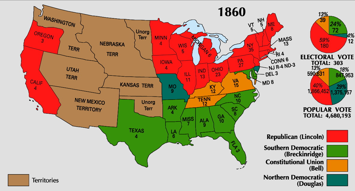 The election of 1860 was going to be the last straw if Lincoln won