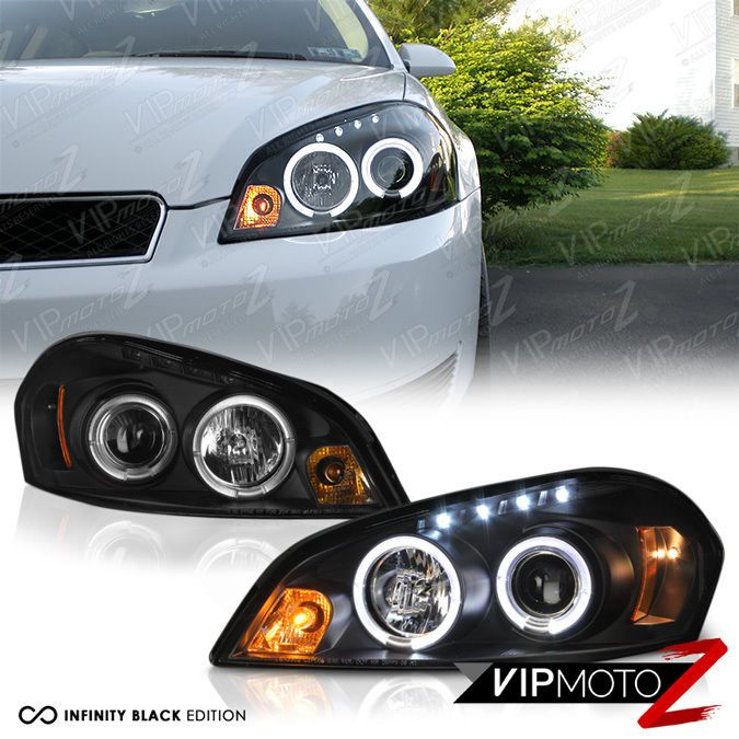 2006 2017 Chevy Impala Halo Led Black Projector Headlight 2007 Monte Carlo Vipmotoz