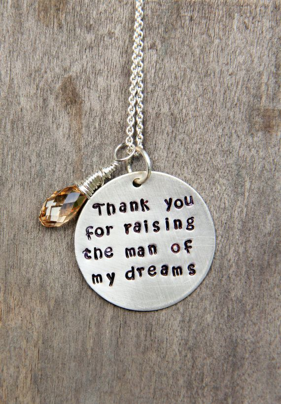 Sale Wedding Mother In Law Gift Mother In Law Christmas Gift Thank You For Raising The Man Of My Dreams Mothers Day Gift Mother In Law