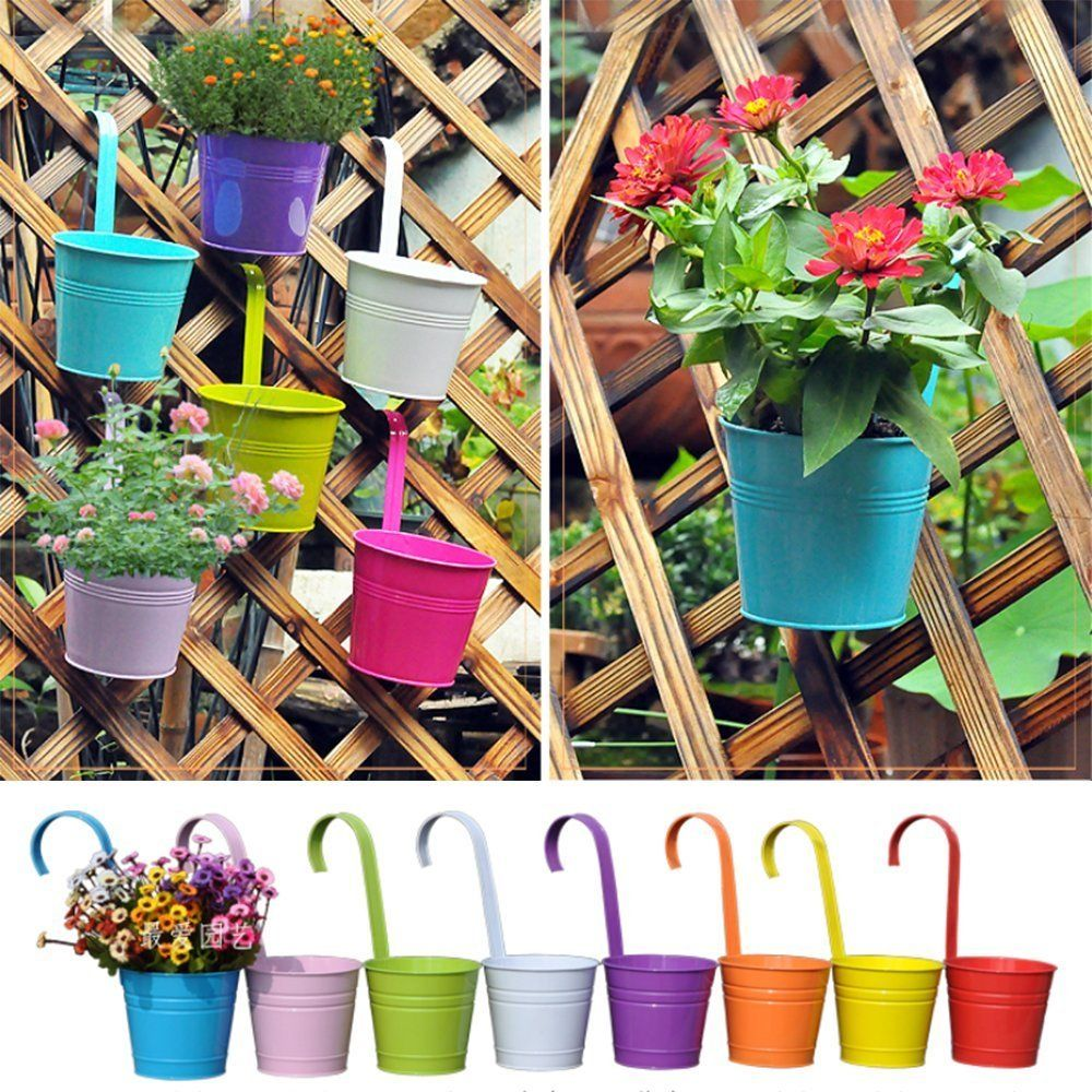 Hanging flower pot10 pcs iron hanging flower pot balcony