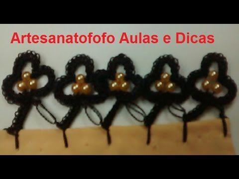 Bico De Croche Com Perolas Croche 48 Passo A Passo Youtube