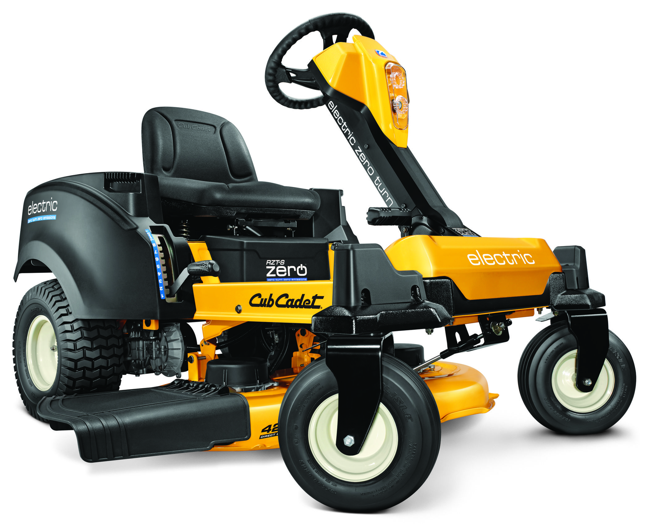 Electric riding lawn mower Yard Landscaping Ideas Design