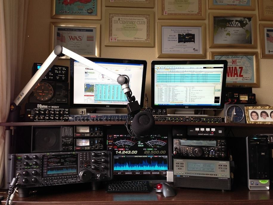 My Ham Shack Ham Radio Pinterest Hams Ham Radio And