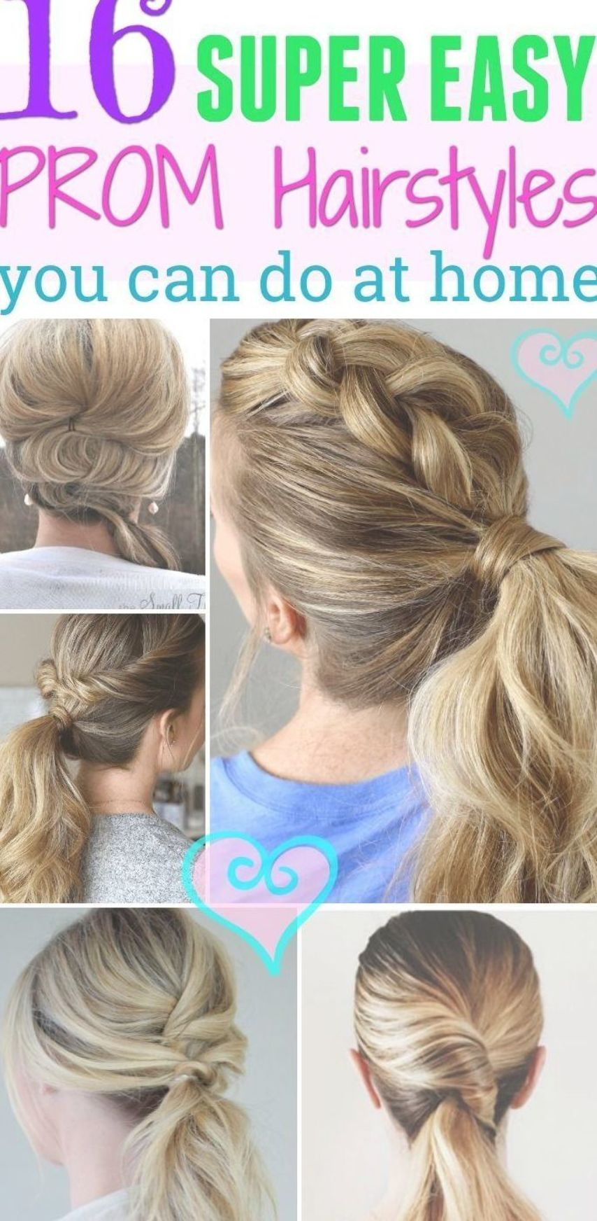 Super Easy To Do Prom Hairstyles You Won T Need A Stylist For Try Out These Unique Prom Hairstyles Anyone Can Do At Hom Hair Styles Simple Prom Hair Prom Hair