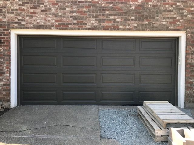 Clopay Model 9203 Long Panel In Mocha Brown House Exterior Garage Doors Doors