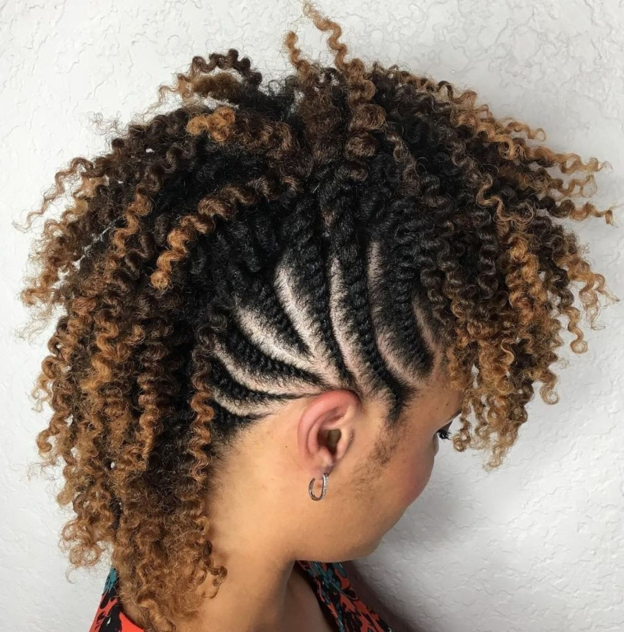 70 Best Black Braided Hairstyles That Turn Heads Braided Mohawk Hairstyles Hair Styles Braided Hairstyles