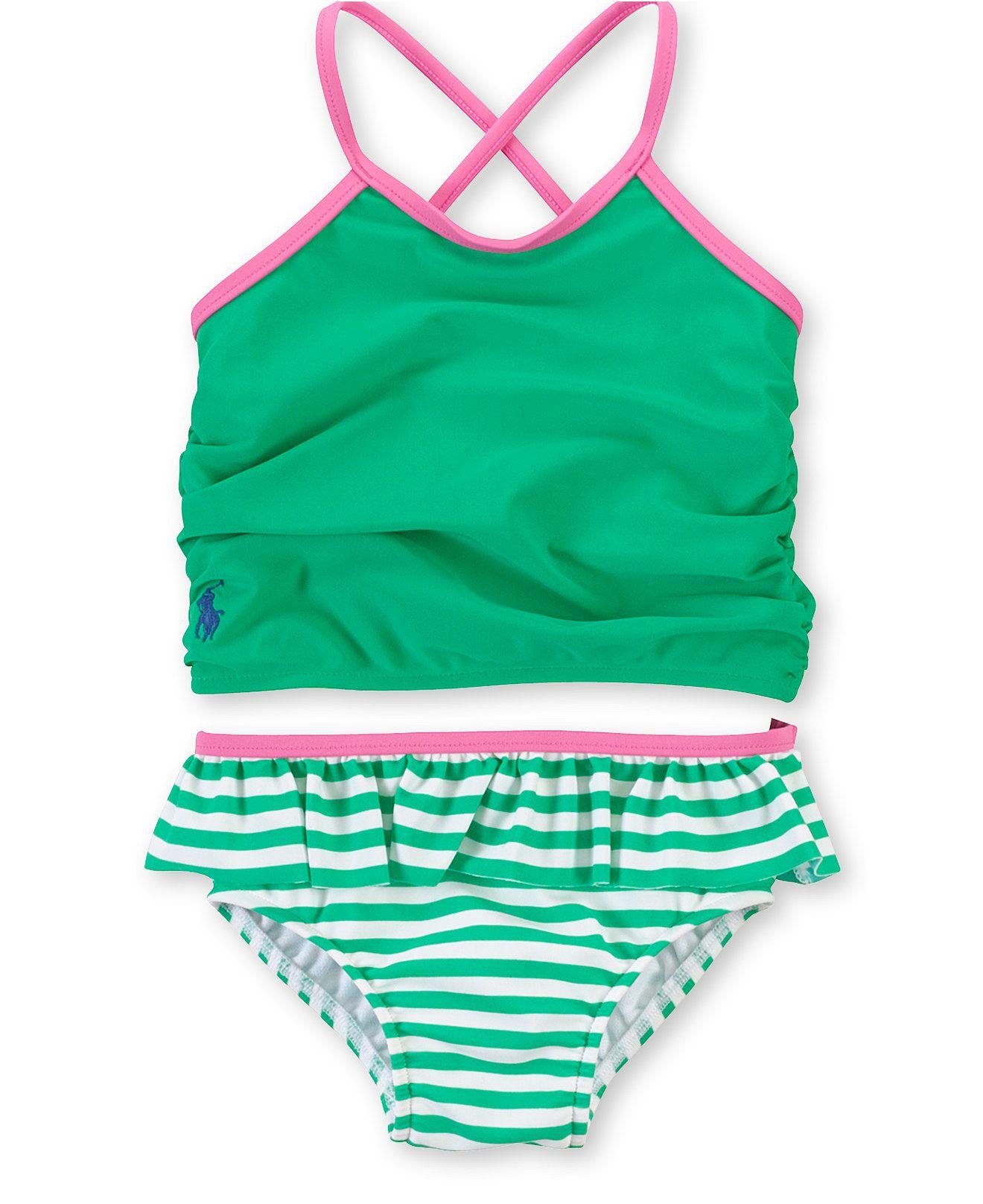 755379bb6d1eb Ralph Lauren Baby Girls' 2-Piece Tankini Swimsuit - Kids Baby Girl (0-24  months) - Macy's