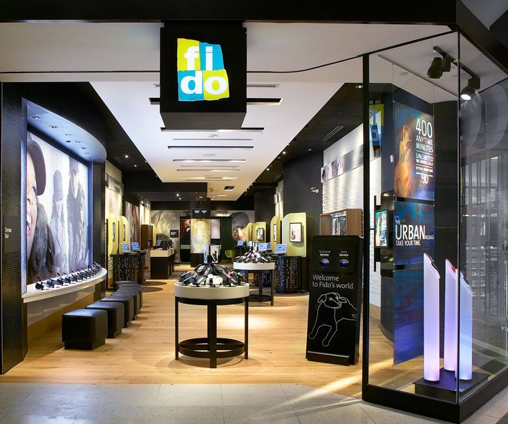 Fido at toronto eaton centre in toronto on designed by for Design consulting toronto