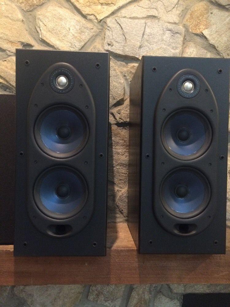 polk audio rt55i large bookshelf speakers rare pair ebay rh pinterest com