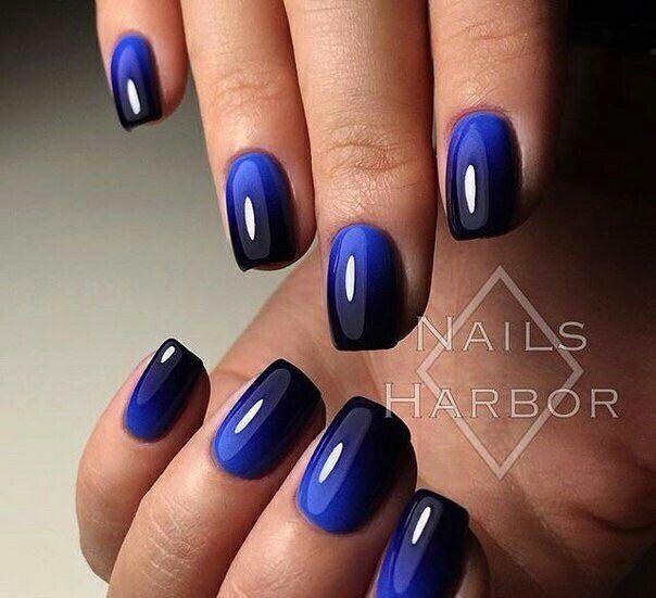 Blue and black ombré