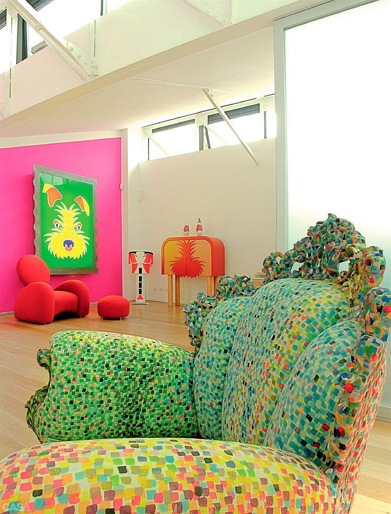 Em Milão, o loft colorido de Anna Gili tem atmosfera divertida - Casa