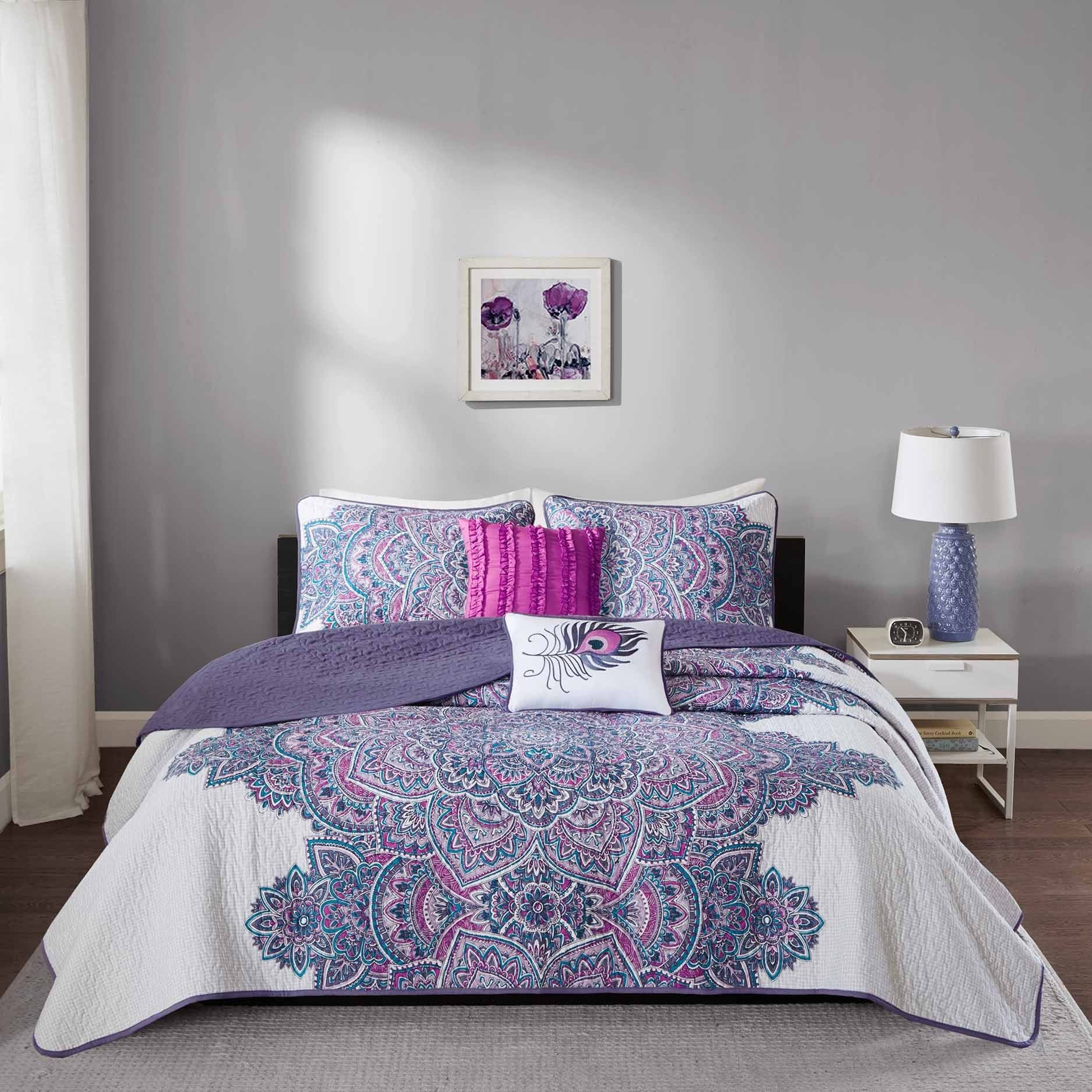 Room PurpleRed Comforter Sets PurpleRed