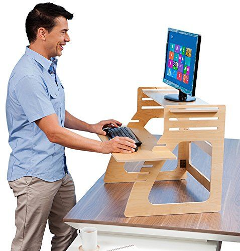 Adjustable Standing Desk Instantly Converts Any Desk To A