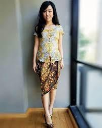 Hasil Gambar Untuk Gaun Pesta Batik Pendek Batiq Batik Kebaya