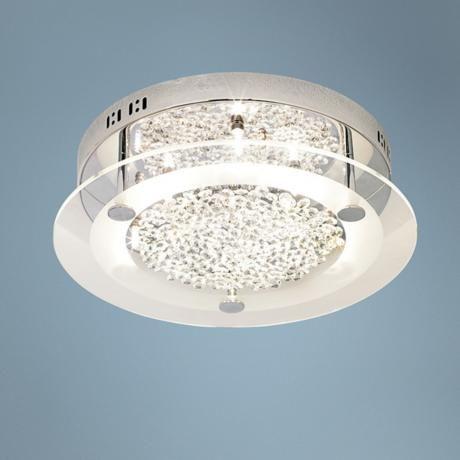 possini euro crystal disc 15 3 4 wide ceiling light fixture rh pinterest com