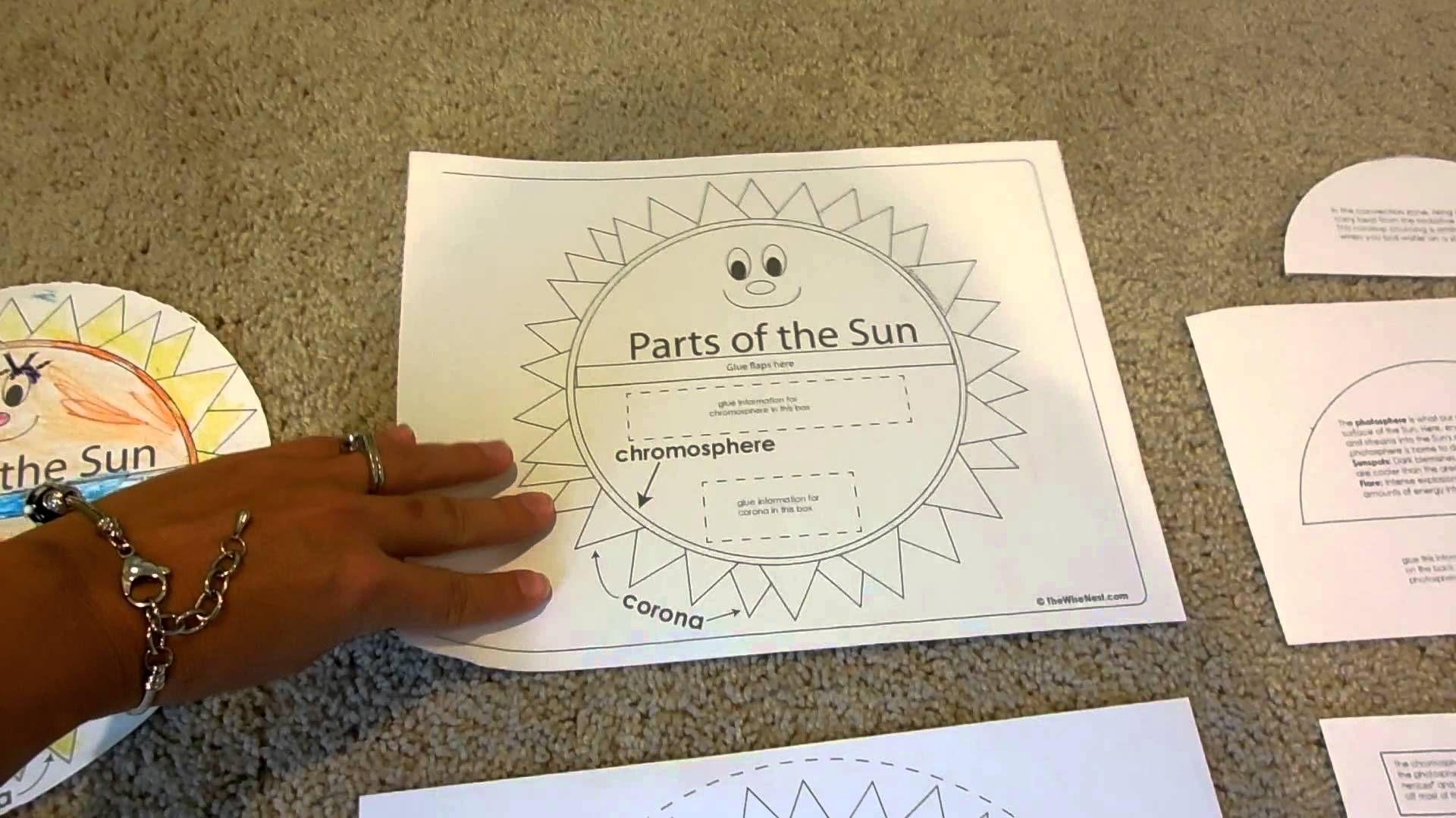 Parts Of The Sun Craft Amazing