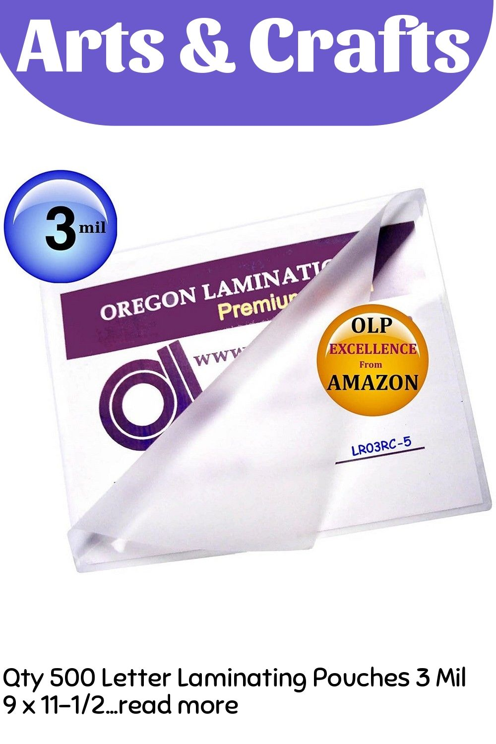 Qty 500 Letter Laminating Pouches 3 Mil 9 X 11 1 2 Hot