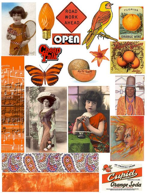 Orange by PaperScraps, via Flickr