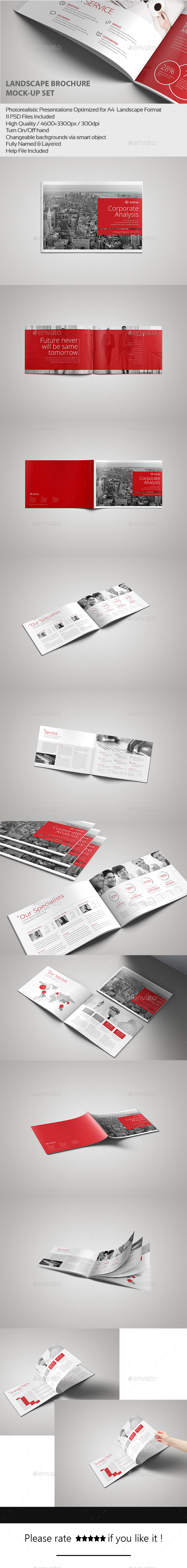 Landscape Brochure MockUp Set Design Download Http