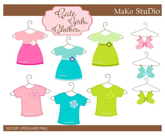 Sale Shirt Clip Art Dress Summer Clothing By Makostudio