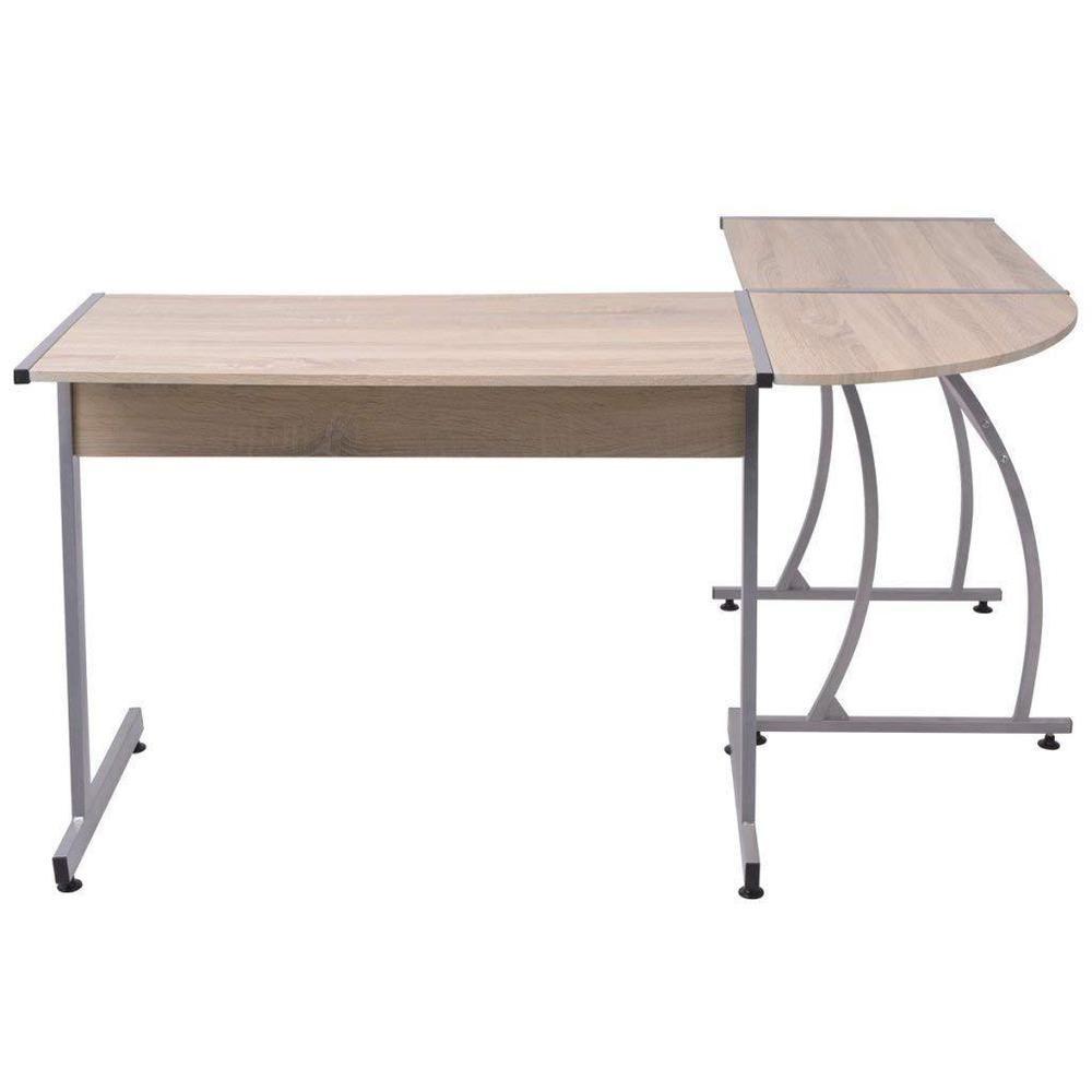 modern corner desk wood metal l shaped writing table study room rh pinterest com