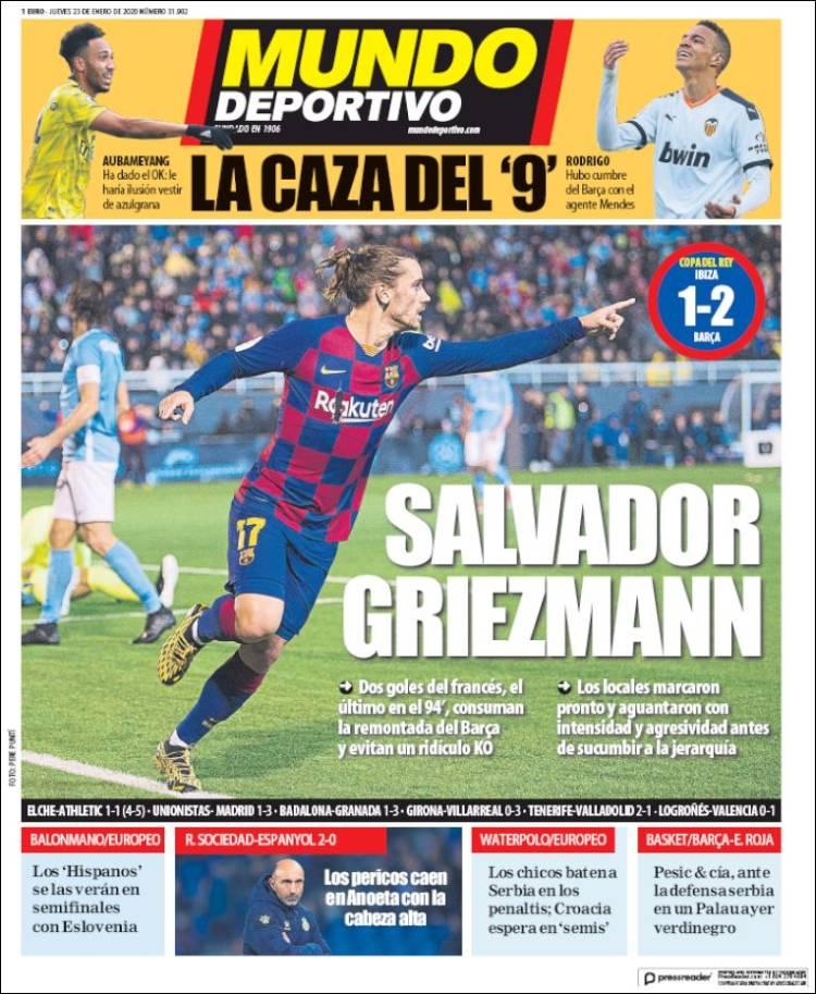 20200123 Periódico El Mundo Deportivo (España