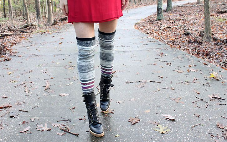 diy reconstruction: sweater into legwarmers