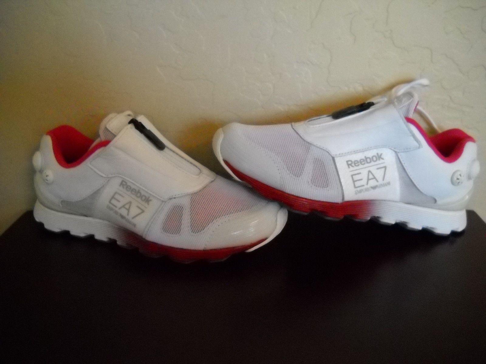 niezawodna jakość szczegóły najlepiej sprzedający się Reebok Armani The Pump 7 Running Shoes EA7 Trainers Women's ...
