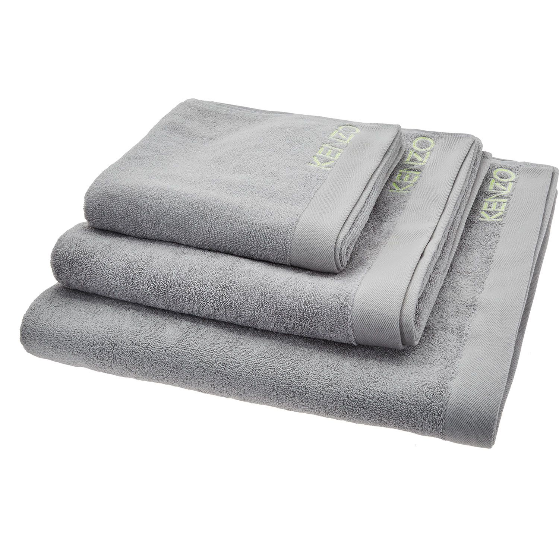 Kenzo Grey Towel Set Gray Towels Towel Set Towel