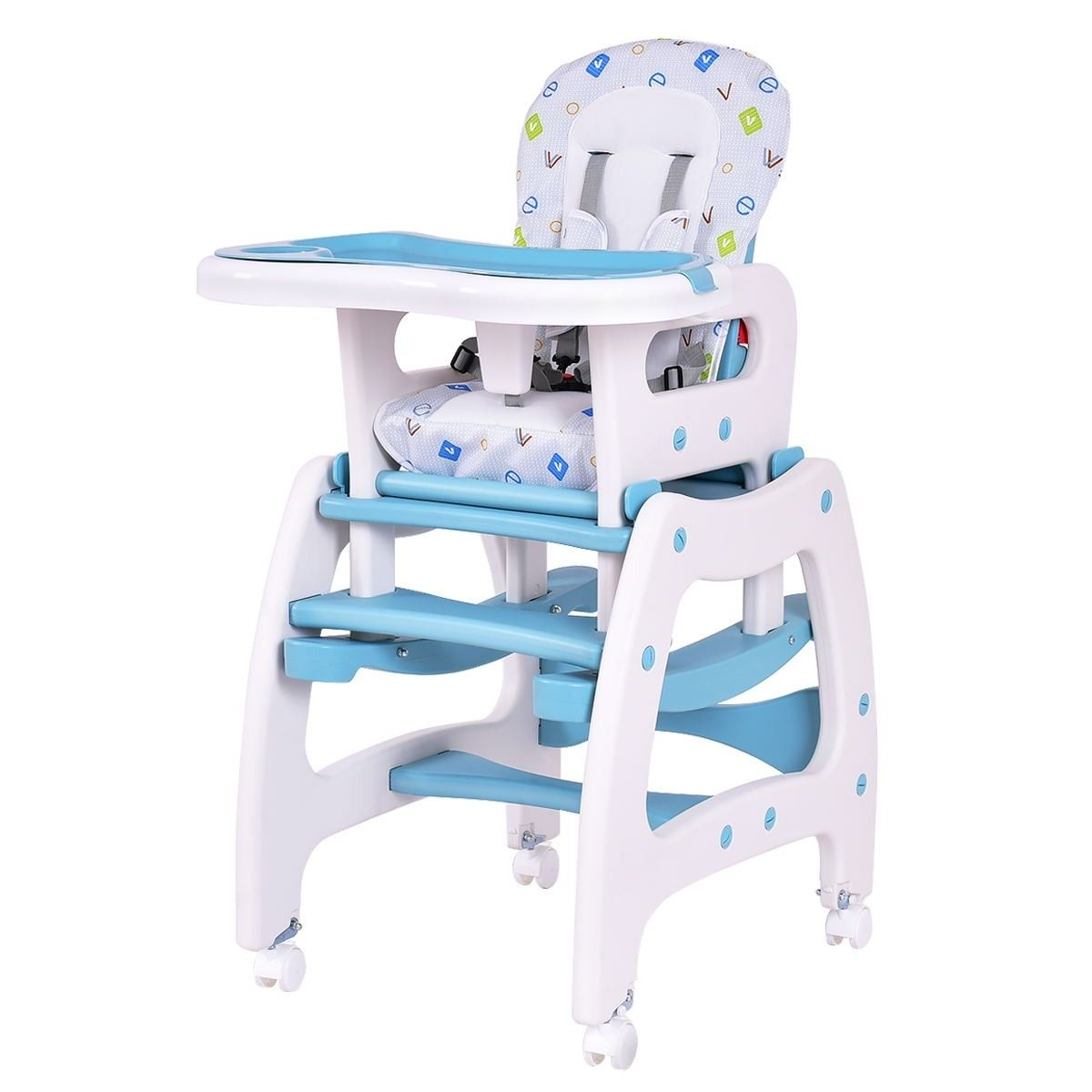 3 in 1 Baby High Chair Convertible Play Table | Baby high
