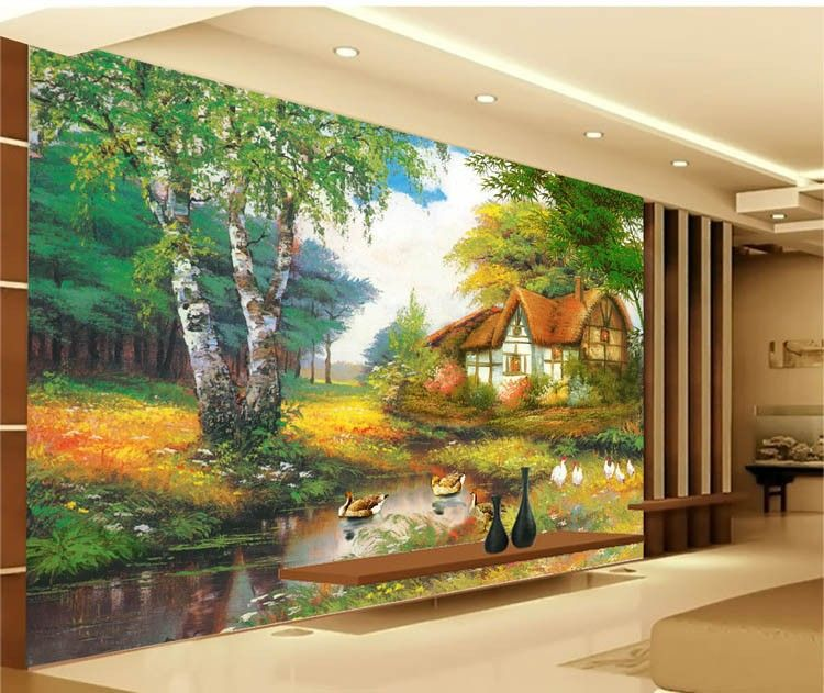 Europe Type Amorous Feelings Since The Design Of Modern Household Wall Paint Murals Background Wallpaper With H Mural Painting Wall Painting Wall Paint Designs