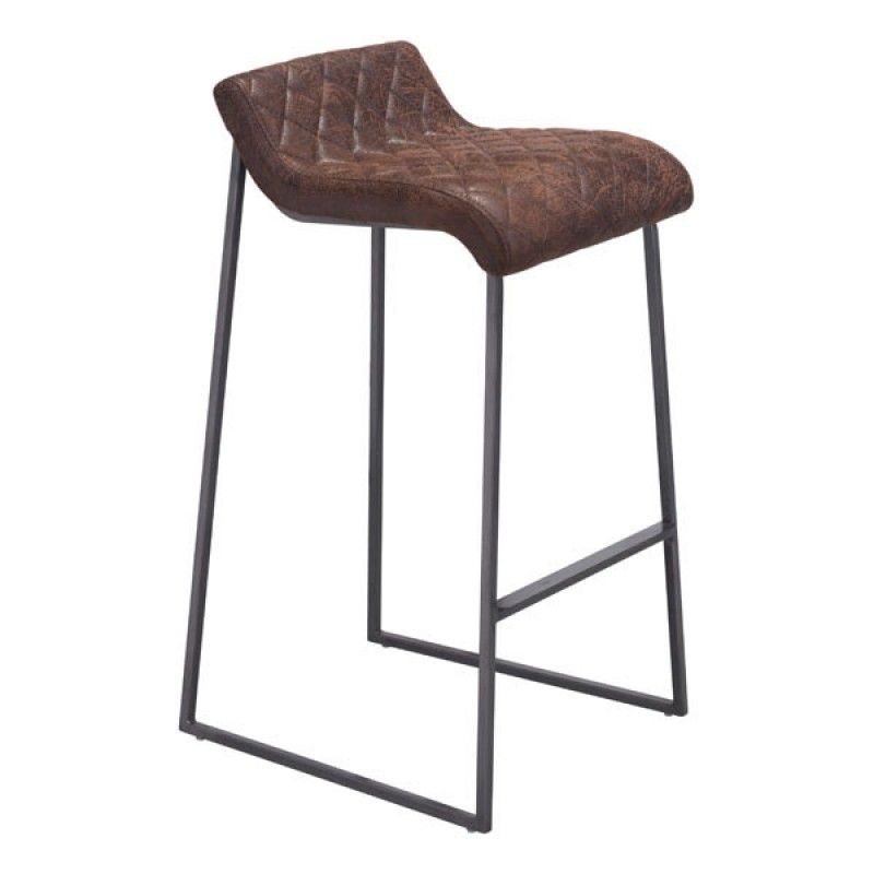 The Father Barstool Boasts An Urban Style With Slim Backless Design While Frame Is Finished In Dark Distressed St White Bar Stools Bar Stools Modern Bar Stools