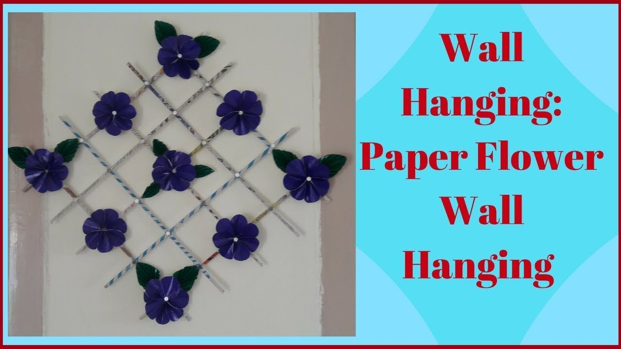 Wall Hanging Paper Flower
