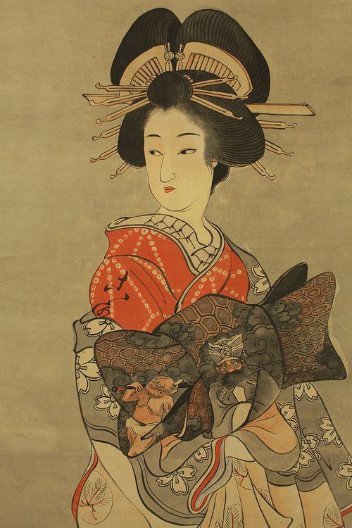 Tayuu kimono illustration