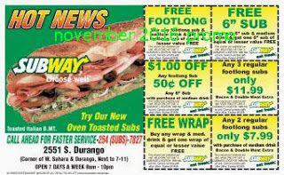 Subway Coupons Subway Coupons Huge Savings 2019 11 08