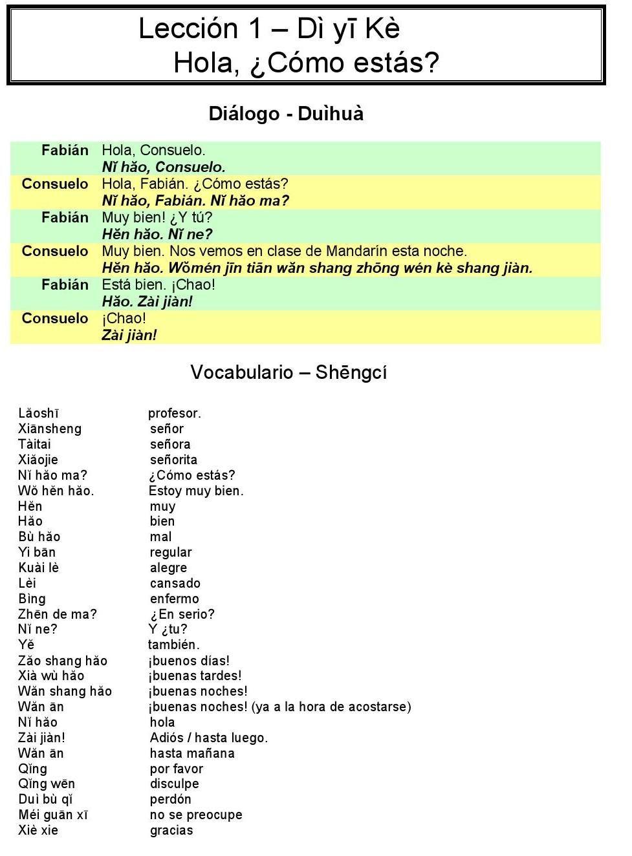 Manual basico de chino mandarin | chino - español | Pinterest