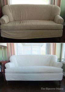 love seat custom slipcover in natural denim custom slipcovers rh pinterest com
