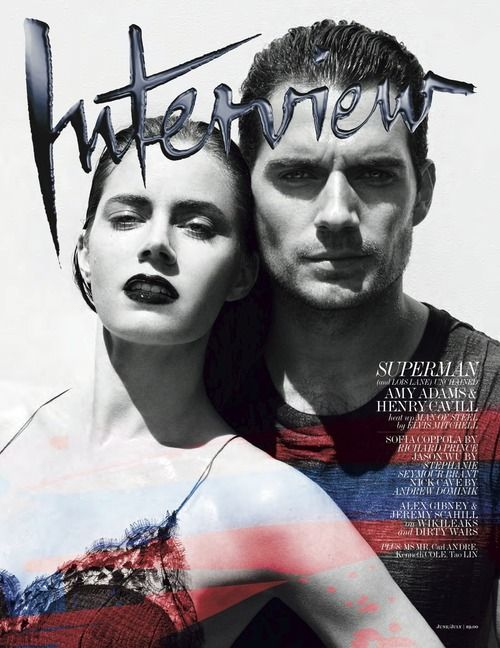 Amy Adams and Henry Cavill for Interview Magazine June/July 2013
