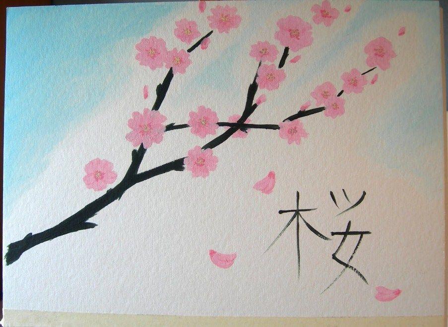 Korean Scenery Girl Wallpaper 3dwallpaperforpc Girl Korean Lukisan Bunga Bunga Sakura Lukisan Mudah