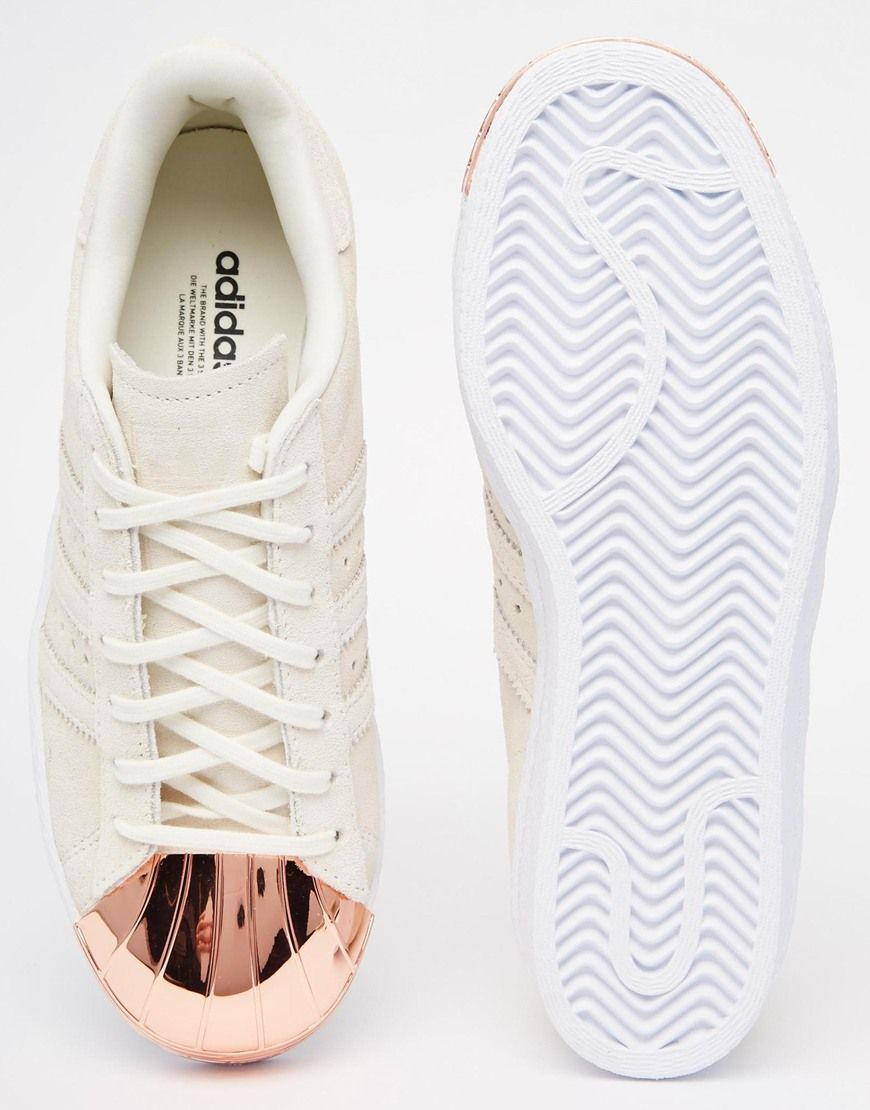 timeless design 7b9a6 e8a7d Image 3 of adidas Originals Superstar 80s Rose Gold Metal Toe Cap Sneakers