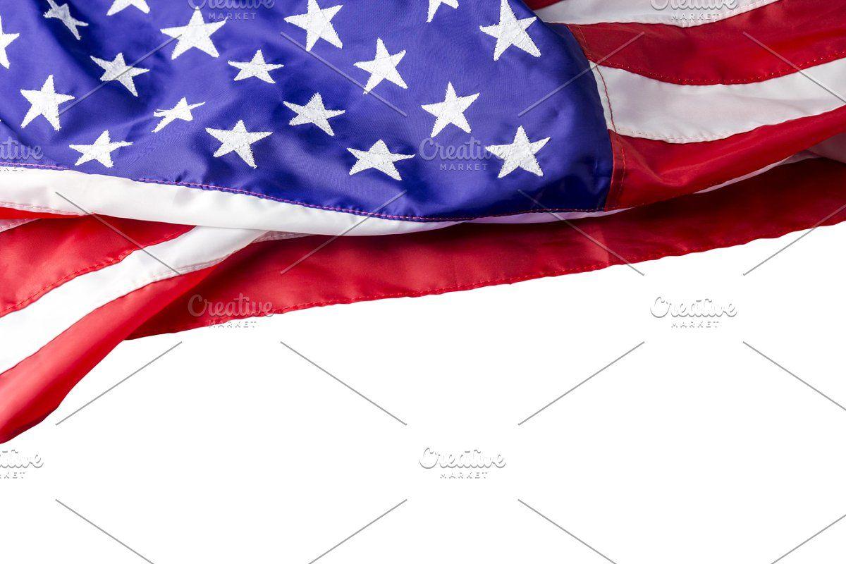Usa Flag On Blue Background In 2020 Usa Flag Blue Backgrounds Flag